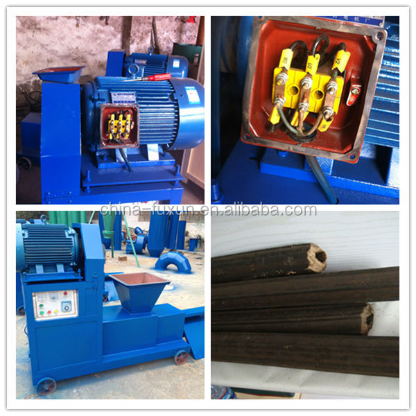 Sawdust briquette charcoal making machine hydraulic