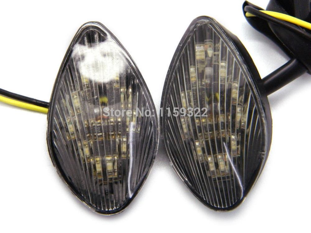 2Pcs Super Bright Clear Motorcycle Front LED Flush Mount Turn Signal Light Blinker Side Maker Lamp for Honda CBR600RR CBR1000RR CBR600F3 CBR600F4 CBR600 F3 F4 F4I