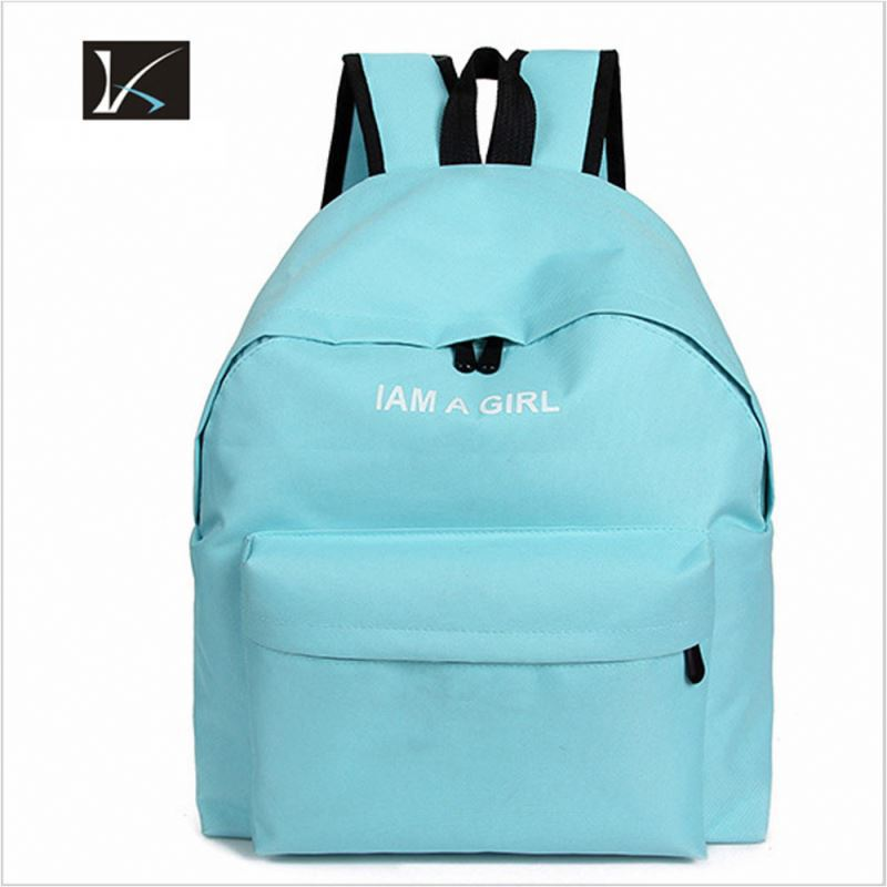 Fashion Custom Casual Washed Thick Cotton Canvas Laptop Backpack with Drawstring Closure