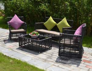 luxurious outdoor bistro garden wicker sofa set