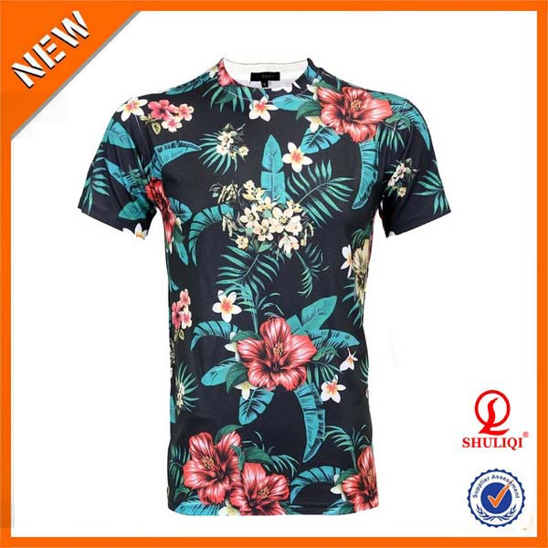 Cotton polyester custom fancy digital printing full print Custom t shirt digital printing