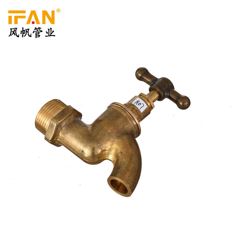 New Toilet Wash Basin Tap Faucet Wall Mounted 1/2 3/4inch Garden Water Tap Brass T-Handle Bibcock Water tap