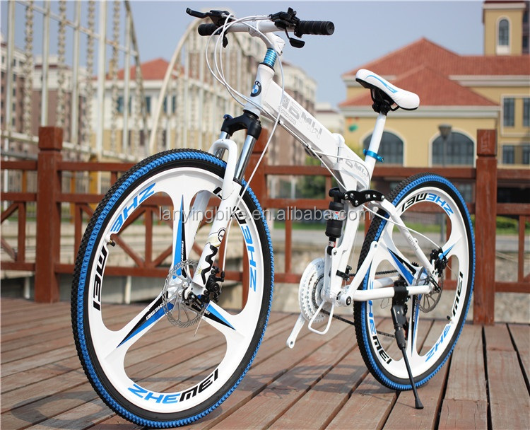 newly integrated wheel folding mountain bike ,high quality folding mountian bike