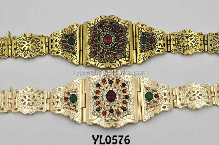 gold plated waist belt lady belt chain belt
