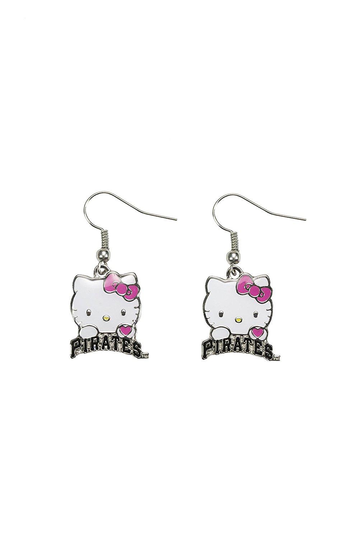 45bc54ffa Buy MLB Pittsburgh Pirates Hello Kitty Wordmark Dangler Earrings in ...