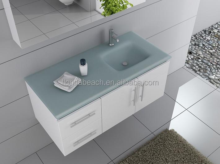 Badkamer Meubel Duitsland : Glanzende pvc bad kast glazen blad badkamermeubel europa stijl