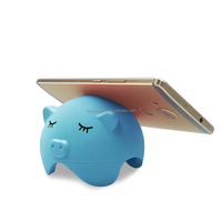 new cute silicone pig mobile phone desktop holder fashion design for girls
