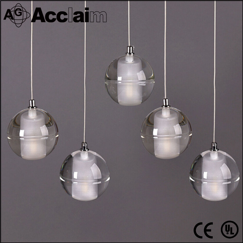 new design modern crystal ball chandelier led ceiling light for hotel for villa
