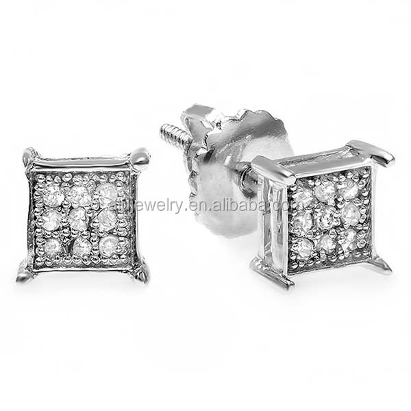 Low price best sell fashion diamond hip hop earring
