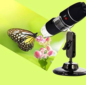Portable 2MP Mega Pixels 50X-500X Magnification 8-LED USB Digital Microscope Endoscope Camera Magnifier with Stand for Education Industrial Biological Inspection