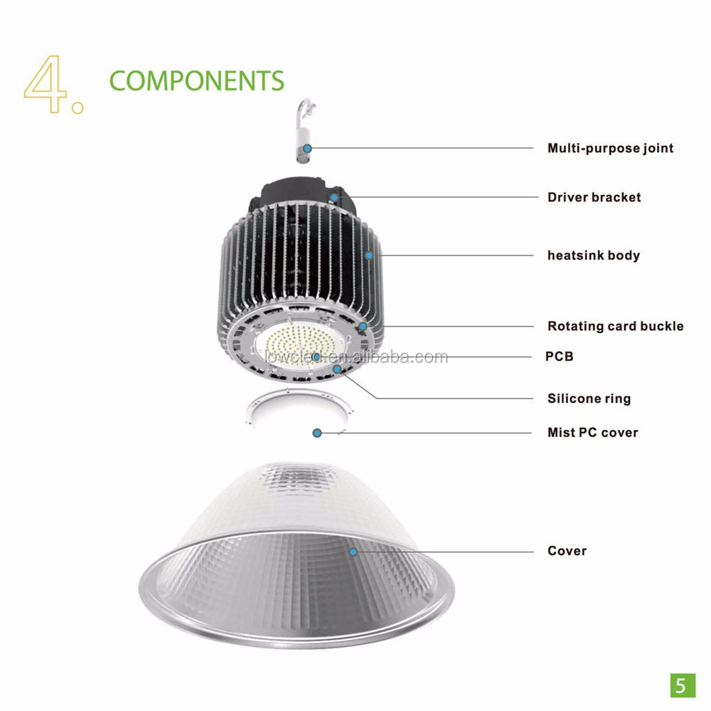 Low Price Ip44 200w Explosion-proof High Bay Lighting