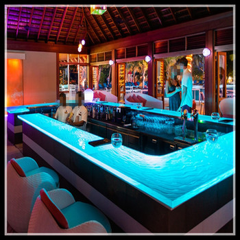 Luxury Led Lit Glass Countertops,modern Bar Counter For Sale