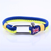 Stainless Steel Shackle Bracelet Nautical Rope Bracelets with British flag label