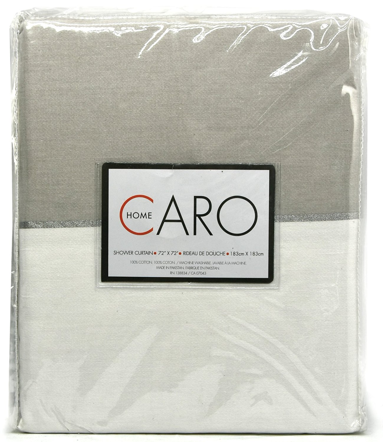 Buy Caro Home 100 Cotton Shower Curtain Wide Stripes Fabric