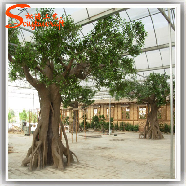 Favorite 2015 China Wholesale Outdoor Large Artificial Decorative Tree  OF03