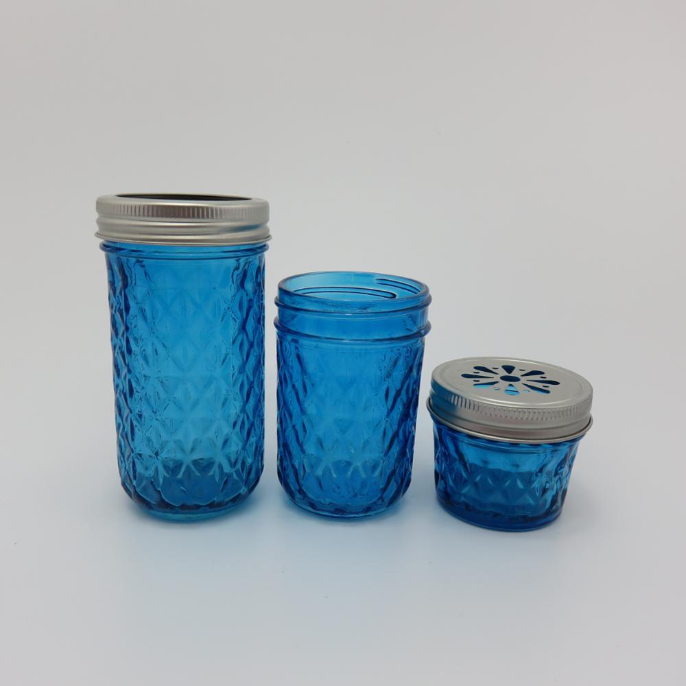 12oz embossed glass mason jars with tin lid buy glass mason jars with tin lid embossed glass. Black Bedroom Furniture Sets. Home Design Ideas