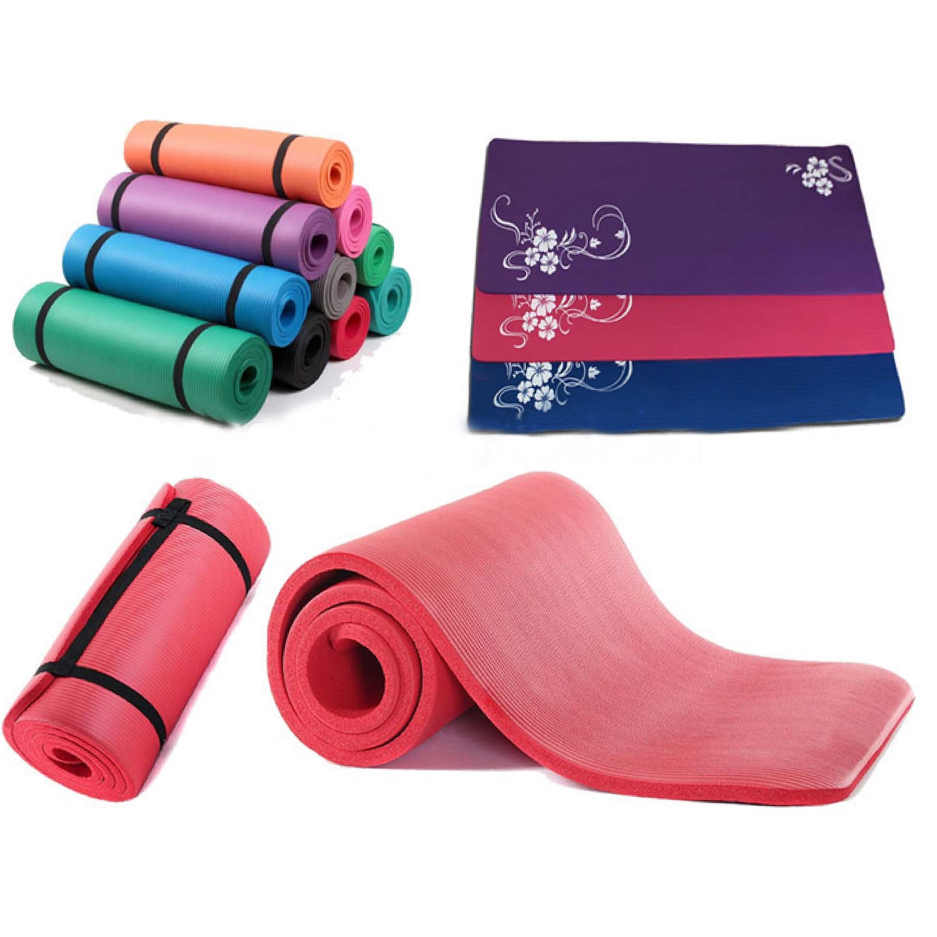 Hot selling nbr yoga mat brand yoga mat nbr materials for fitness and yoga