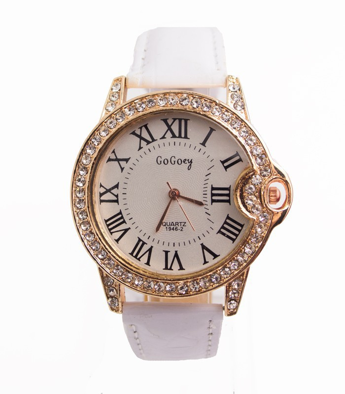 Gogoey марка кристалл платье кварцевый часы женщины до запястья часы наручные часы 201507208
