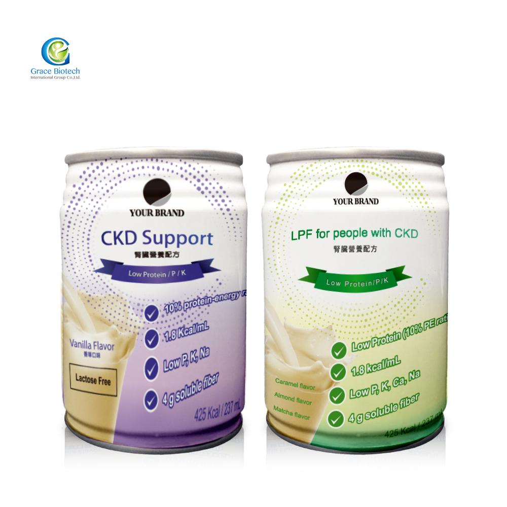Faible Teneur en Protéines Sans Sucre Supplément Nutritionnel Rénale Boisson Diététique ODM Étiquette Privée