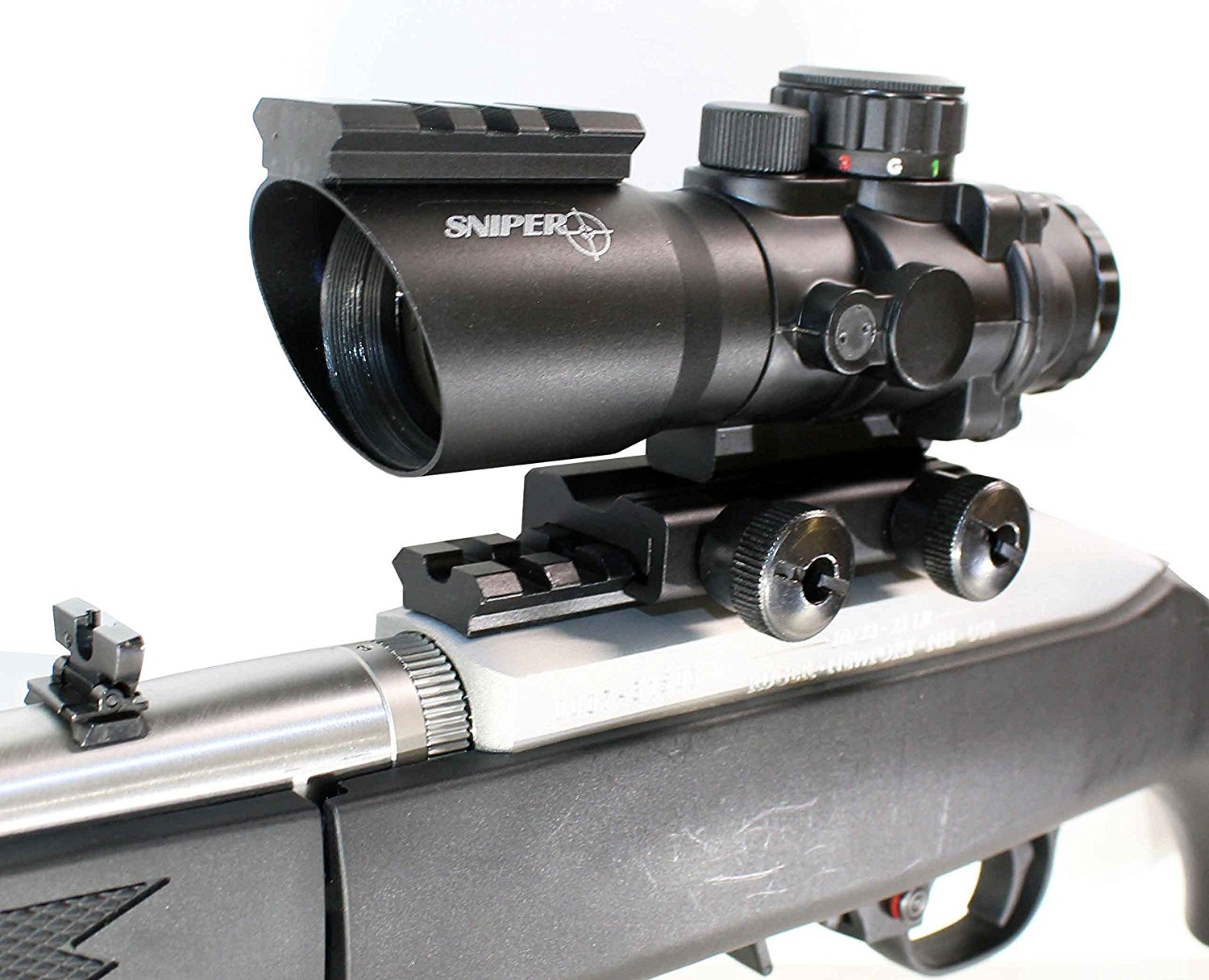 Trinity hunting scope 4x32 with base for ruger model 1022 rifle mildot reticle.