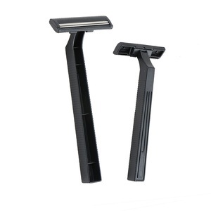 Twin stainless steel blade hotel use fixed head with safety cover disposable shaving razor