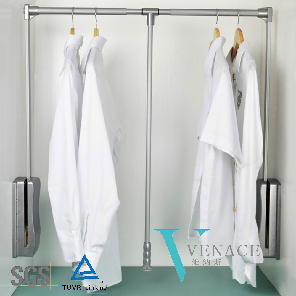 Wardrobe Rail Lift System Pull Down Clothing Adjust Many Kinds Of Sizes
