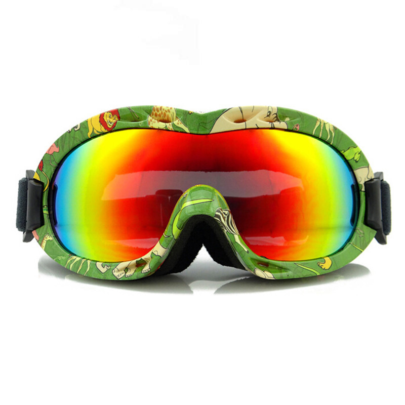 Anti-fog Children Ski Goggles Kids Snowboard Goggles 100% UV Ski Snowboard Glasses Sports  Eyewear With Case 6012
