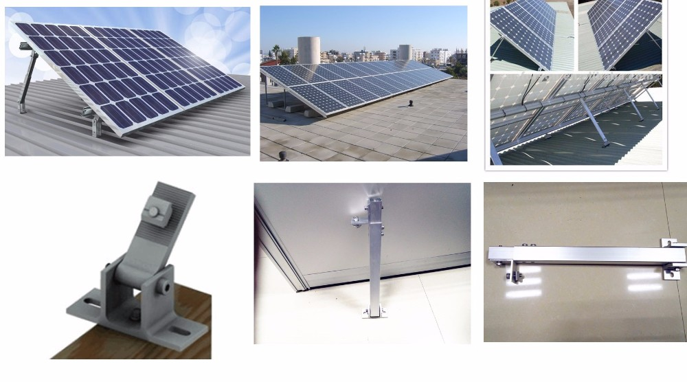 Flat Roof Solar Panels Structure System for Home, solar panel roof mounting systems