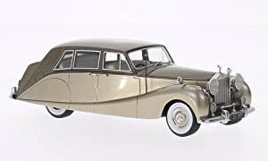 Rolls Royce silver Wraith Empress Line by Hooper , metallic-beige/metallic-brown, 1956, Model Car, Ready-made, BoS-Models 1:43 by Rolls Royce