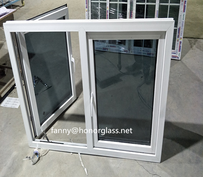 PVC Hurricane Impact Triple Glass Casement French Windows Prices