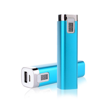 lipstick external portable battery charger Li-Ion battery charger powerbank with flashlight