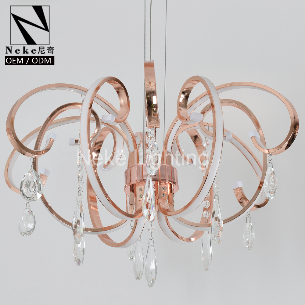 New Product Modern Rose Gold Crystal Lighting Lamps Chandeliers On Alibaba