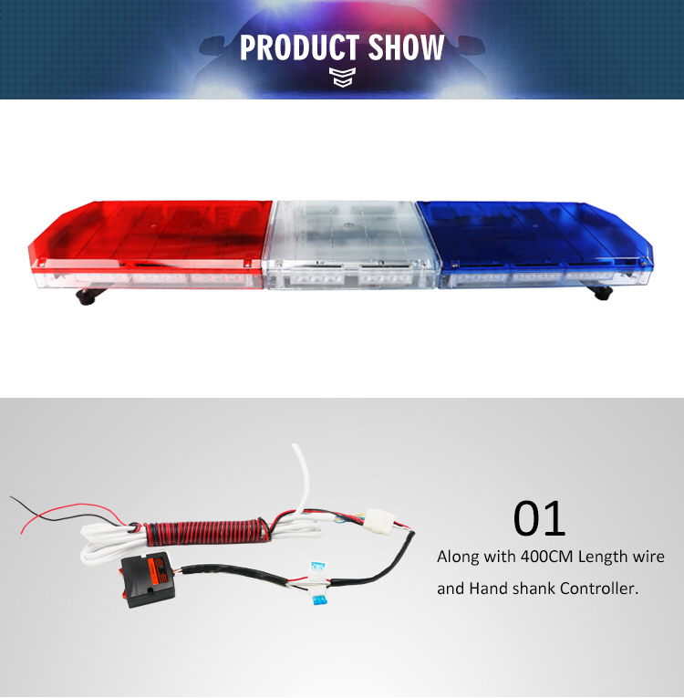 47inch emergency vehicle warning amber led ambulance light bar