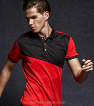페블 Knit Fabric 200gsm <span class=keywords><strong>100</strong></span>% Polyester 망 Solid Col Quick Dry Polo Shirt