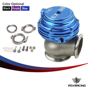 PQY RACING - EX 38mm WASTEGATE WITH V-BAND AND FLANGES TURBO WASTEGATE WITH PQY LOGO PQY5831-PQY