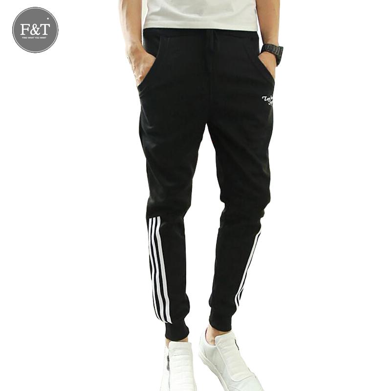 Compra Negro pantalones de chándal flacos online al por