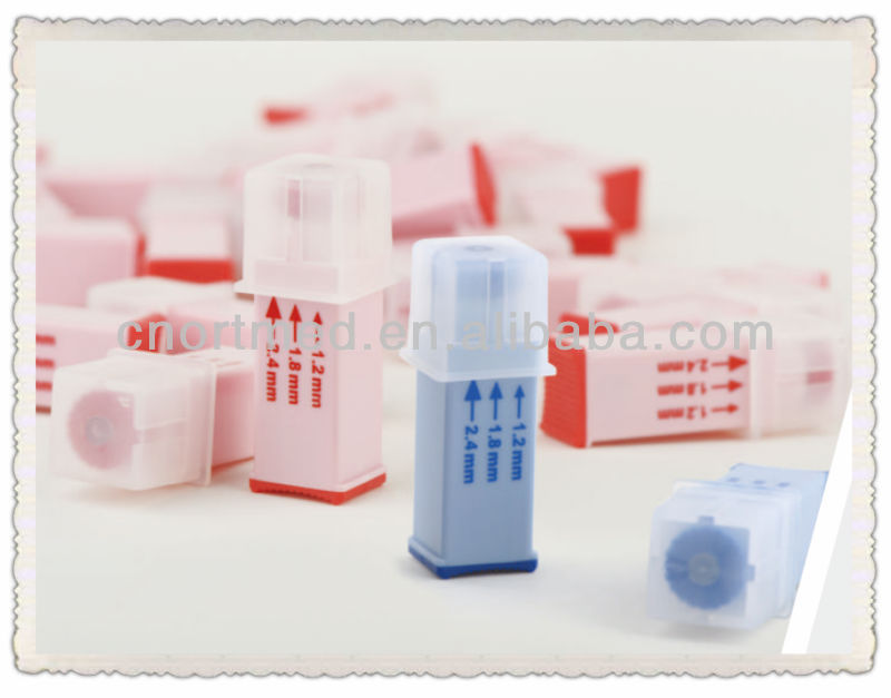 23G Pressure activated safety low price blood lancet