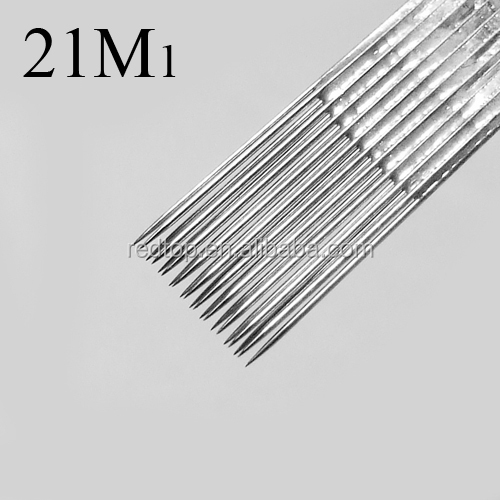 Best 50 Pack 0.35mm Pre-made Stainless Steel Sterile Tattoo Needle ...