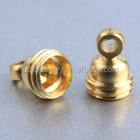 all sizes wholesale flexible jewelry findings and components brass connectors end caps jewelry for DIY