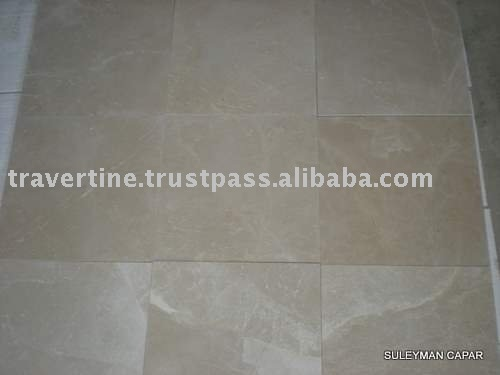 Turkish Marble Tiles, Polished Beige Marble 20 mm thick