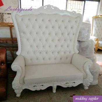 Favor High Back White Sofa Chair