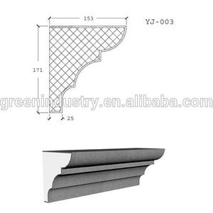 Pop design EPS Exterior decorative cornice with various types