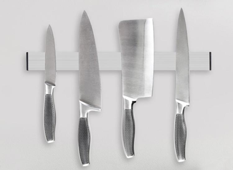 ndfeb aimant forte puissance en acier inoxydable magn tique porte couteau pour cuisine porte. Black Bedroom Furniture Sets. Home Design Ideas