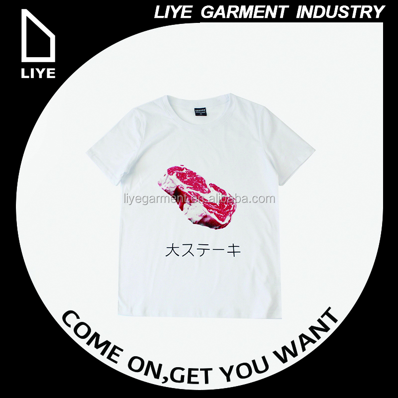 China Liye professional manufacturer high quality custom white heat printing t-shirt women