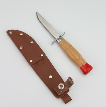 wooden handle and natural leather sheath Scandinavian Utility fishing and outdoor knife