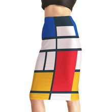 Hot selling long sexy tight skirt for women cartoon printing midi pencil skirt