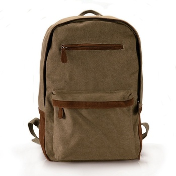 Custom Outdoor Canvas Travel Duffle Backpack Coffee School Book Bag