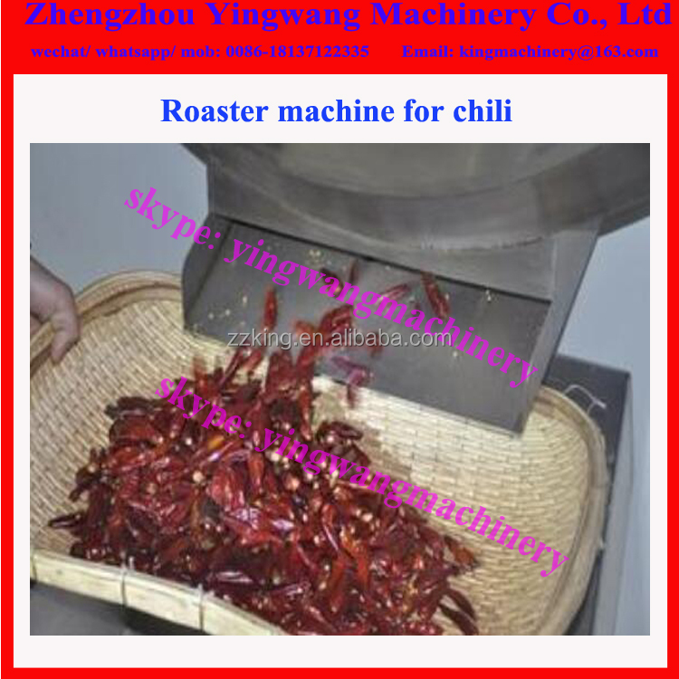 Electric chili roasting machine / chili roaster / pepper roaster machine