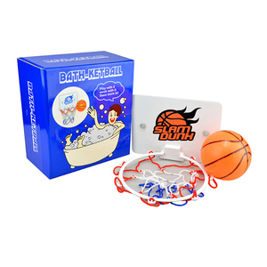 Kids slam dunk toilet mini bath basketball toy game for promotion