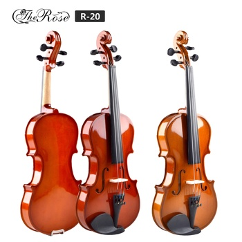 China hot sell cheap price spruce top violin handmade with violin bow